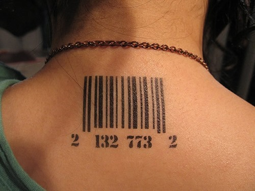15 unique barcode tattoo designs. Black Bedroom Furniture Sets. Home Design Ideas